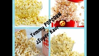 How to make Popcorn (Cinema style) at home in 1 min |  DIY Popcorn | English subtitles | JSuper Kaur