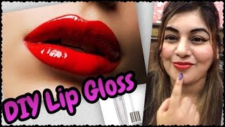DIY Homemade Lip Gloss (Clear) - Super Easy | Make your Lips Fuller Pouty & Plump | JSuper Kaur