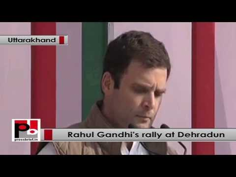 Rahul Gandhi at Dehradun- The women, youth and tribals developed  Gujarat