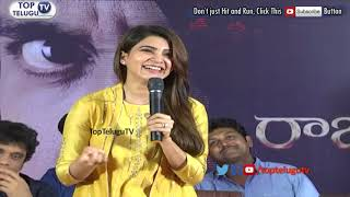 Samantha React on Suchi leaks at Raju Gari Gadhi 2 Press Meet || Samantha || Nagarjuna Akkineni