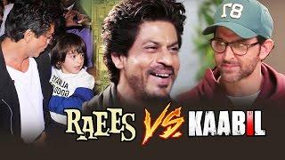 Shahrukh's Son AbRam WATCHES RAEES, Shahrukh Khan MAKES FUN Of Hrithik Roshan - RAEES Vs KAABIL