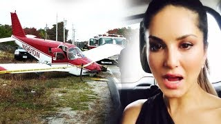 Sunny Leone's PLANE CRASHED, Actress Screams ALIVE - Shocking Video