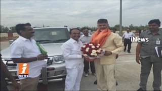 Minister Etela Rajender Meets AP CM Chandrababu | Invite For Son Marriage | iNews
