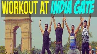 Best INDIAN OUTDOOR WORKOUT MOTIVATION | Calisthenics & Drone Shots At INDIA GATE |ABHINAV MAHAJAN