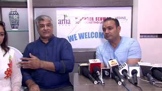 Virender Sehwag At Launch Of Arha Vedang Clinic