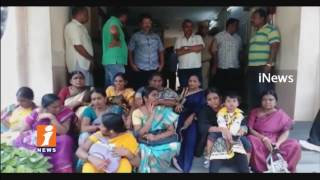 Harassed Wife Protest at Sanga Reddy Police Station | Demands for Husband Arrest | iNews