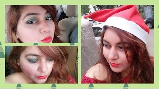 Christmas Makeup under RS.350 | Glamorous GLITTER makeup look | AFFORDABLE | JSuper Kaur