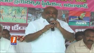 TS Minister Jogu Ramanna Started Sports Competitions At Indira Priyadarshini Stadium | iNews