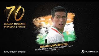 Bhaichung Bhutia 1st Indian & Asian to score in English Football, 1999 - Bury FC | 70 Golden Moments