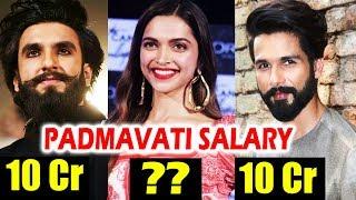 Real SALARY Of Padmavati Actors - Deepika Padukone, Ranveer Singh, Shahid Kapoor