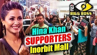Hina Khan FANS REACHES In Huge Numbers In Inorbit Mall To Support | Bigg Boss 11 Mall Task