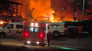 Raw- No Injuries in Okla. Dock Fire News Video
