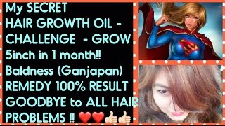 DIY HAIR GROWTH OIL for LONG  HAIR -  upto 4-5 inch in 1 month | ONE HAIR OIL for ALL Hair Problems!
