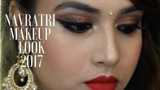 NAVRATRI MAKEUP TUTORIAL 2017 | INDIAN GET READY WITH ME | INDIAN FESTIVAL
