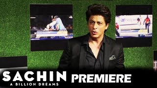 Shahrukh Khan PRAISES Sachin Tendulkar - FULL INTERVIEW - Sachin A Billion Dreams GRAND PREMIERE
