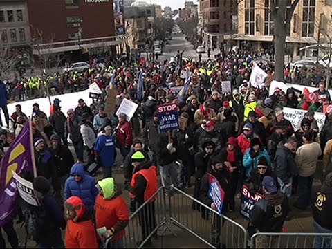About 2,000 People Rally to Oppose Right-to-Work News Video