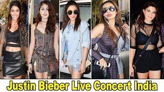 Bollywood H0t Actress & Kids At Justin Bieber Live Concert