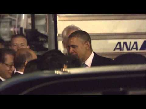 Raw- Obama Arrives in Japan for State Visit News Video