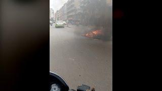 Cauvery water row- Protesters vandalise bus from Karnataka