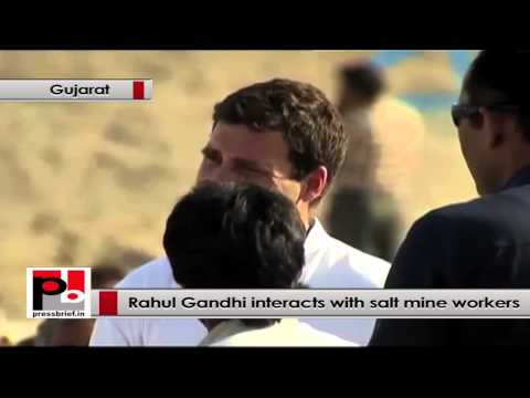 Rahul Gandhi to salt mine workers - I want your participation in legislative assembly