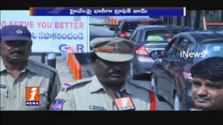 People Return To Hyderabad After Sankranthi Holidays | Traffic Jam at Panthangi Toll Gate | iNew