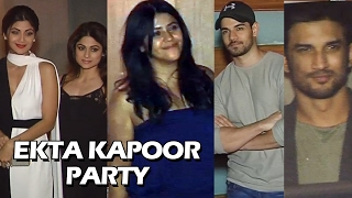 Ekta Kapoor's GRAND Party | Full Video | Sushant Rajput, Shilpa Shetty, Sooraj Pancholi