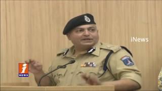 Hyderabad Commissioner Sandeep Sandilya Over Crime Rate   iNews