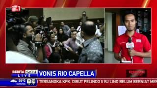 Rio Patrice Capella Divonis 1 Tahun 6 Bulan Penjara
