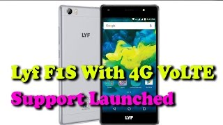Lyf F1S With 4G VoLTE Support Launched || Rectv India