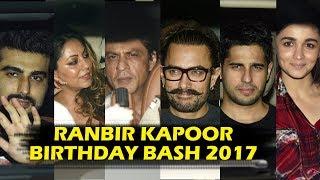 Ranbir Kapoor Grand Birthday Party 2017 Full HD Video - Shahrukh, Aamir, Alia Bhatt, Sidharth, Gauri