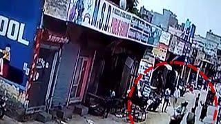 पलक झपकते ही महिला की चेन लूटकर फरार हुए बदमाश, CCTV में कैद