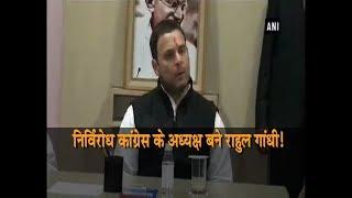 निर्विरोध कांग्रेस के अध्यक्ष बनेंगे राहुल गाँधी