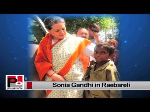 Sonia Gandhi visits Raebareli interacts with people, targets Modi govt