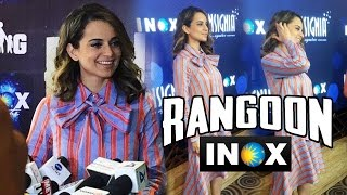 Kangana Ranaut At INOX For Rangoon Promotions
