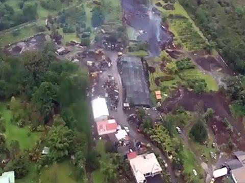 Raw- Hawaii Lava Inches Closer News Video