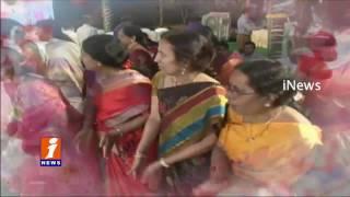 Bathukamma Celebrations At Jalavihar | Telangana Floral Festival | Hyderabad | iNews