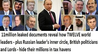 PANAMA PAPER LEAK : 11 million leaked documents reveal world leaders hide their million in tax havens