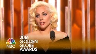 Lady Gaga Wins Best Actress in a Limited Series or TV Movie - Golden Globes 2016