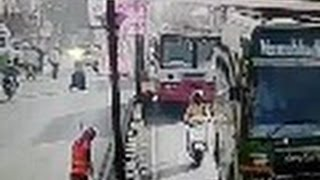 Just Another Day in India -City Worker Killed When Hit by Bus