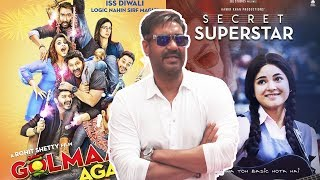 Ajay Devgn REACTION On Golmaal Again Vs Secret Superstar BIG CLASH