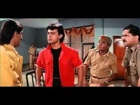 Aamir and Salman at police station - Andaz Apna Apna - Bollywood Movie Comedy Scene
