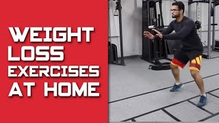 Weight loss workout with AT HOME Exercises! (Hindi / Punjabi)