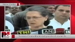 Congress President Sonia Gandhi Leads Protest March to Rashtrapati Bhavan Politics Video