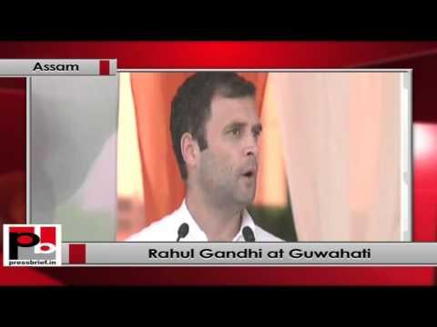 Rahul Gandhi addresses Congress rally in Guwahati, Assam