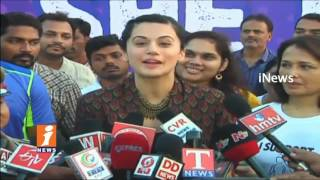 Taapsee And Amala Participated In Women Safety Awareness 5K Run In Hyderabad | iNews