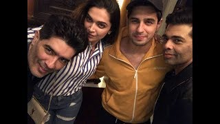 Deepika Padukone parties with Sidharth Malhotra, Karan Johar at Manish Malhotra's house