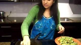 Stuffed Bhindi recipe, Bharvan Bhindi - Okra Recipe