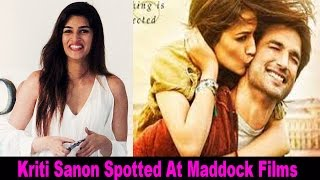 H0t Actress Kriti Sanon Spotted At Maddock Films Office