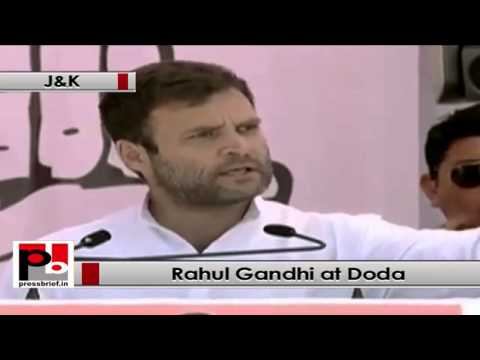 Rahul Gandhi in Doda (Jammu & Kashmir) targets Modi for hiding his marital status earlier