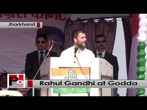 Jharkhand- Under Modi, good days have come only for businessmen, says Rahul Gandhi